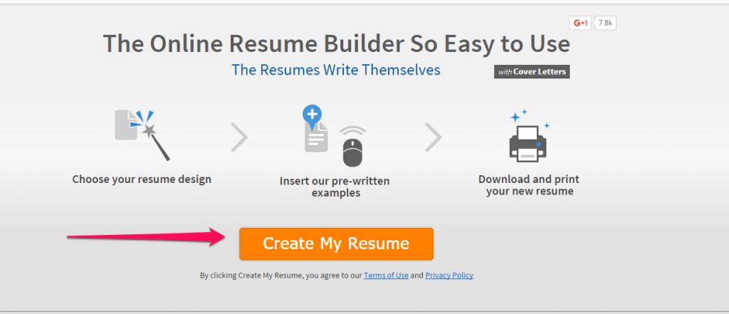 create resume